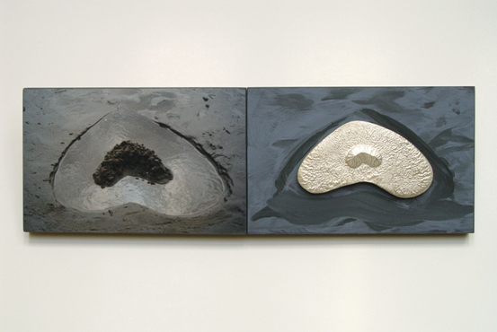 21a Installation 'Heart island' 2001. with silver brooch, 2001.30x10cm