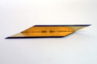 3 Object 1980. steel, leave gold, 26x7cm