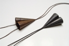 12 'Pointed' pendant 1993. bronze and blackened silver, 8x6cm