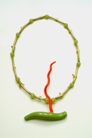 13 Necklace/object 'Harvest' 1996. wood, leave gold, acrylic paint, synthetic material, 52x34cm