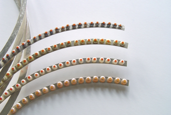 Necklace 'Springtime', 2002, silver, several colours freshwater pearls possible