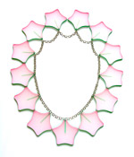 Necklace 'Hoya Camosa' acrylic sheet and silver 350x270x4mm 2007