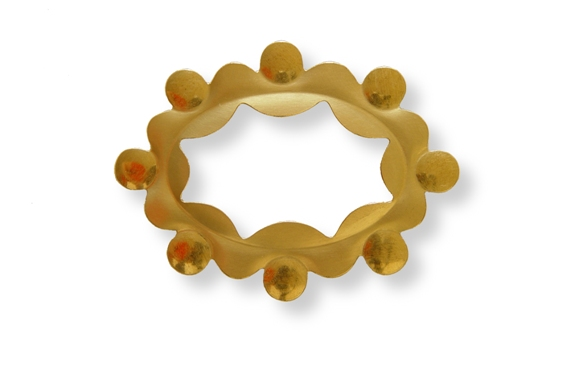 Crown Brooch 11 - 50x66mm 18kr gold